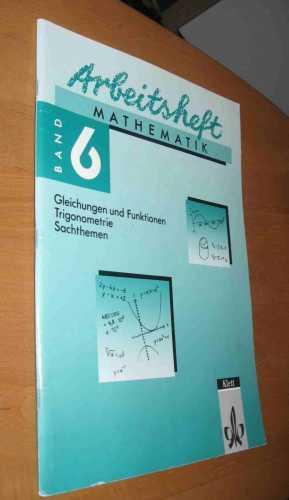 Arbeitsheft Mathematik Band 6: Böhmer, Jander, Schlake,