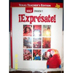 Expresate Holt Spanish 1 (English and Spanish: Humbach, Nancy &