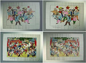 Chinese New Year Pictures. Woodblock Prints by Jung Pao Chai Hsin Chi in 1950: Wang Shuhui; Rong ...