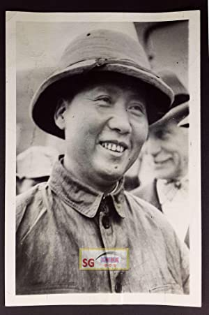 2 Original Photos: Mao Tse-tung with Chang Kuo Tao in Shensi, March 7, 1938; Mao in Chungking, ...