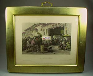 LOT of 4 Antique Engravings drawn by Thomas Allom. Hand Colored and Framed. China in a Series of ...