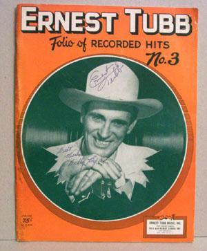 Ernest Tubb: Folio of Recorded Hits No. 3: Tubb, Ernest