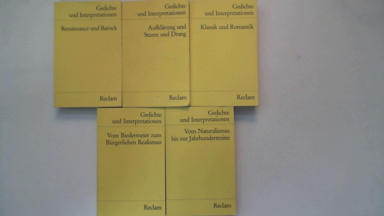 Gedichte Und Interpretationen Band 1 Bis 5