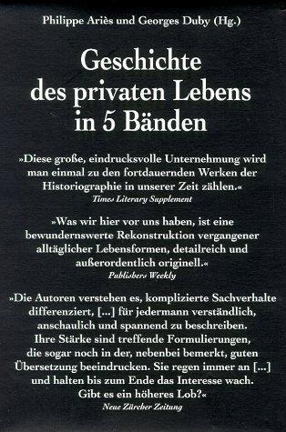 Geschichte des privaten Lebens in 5 Bänden: Aries, Philippe und