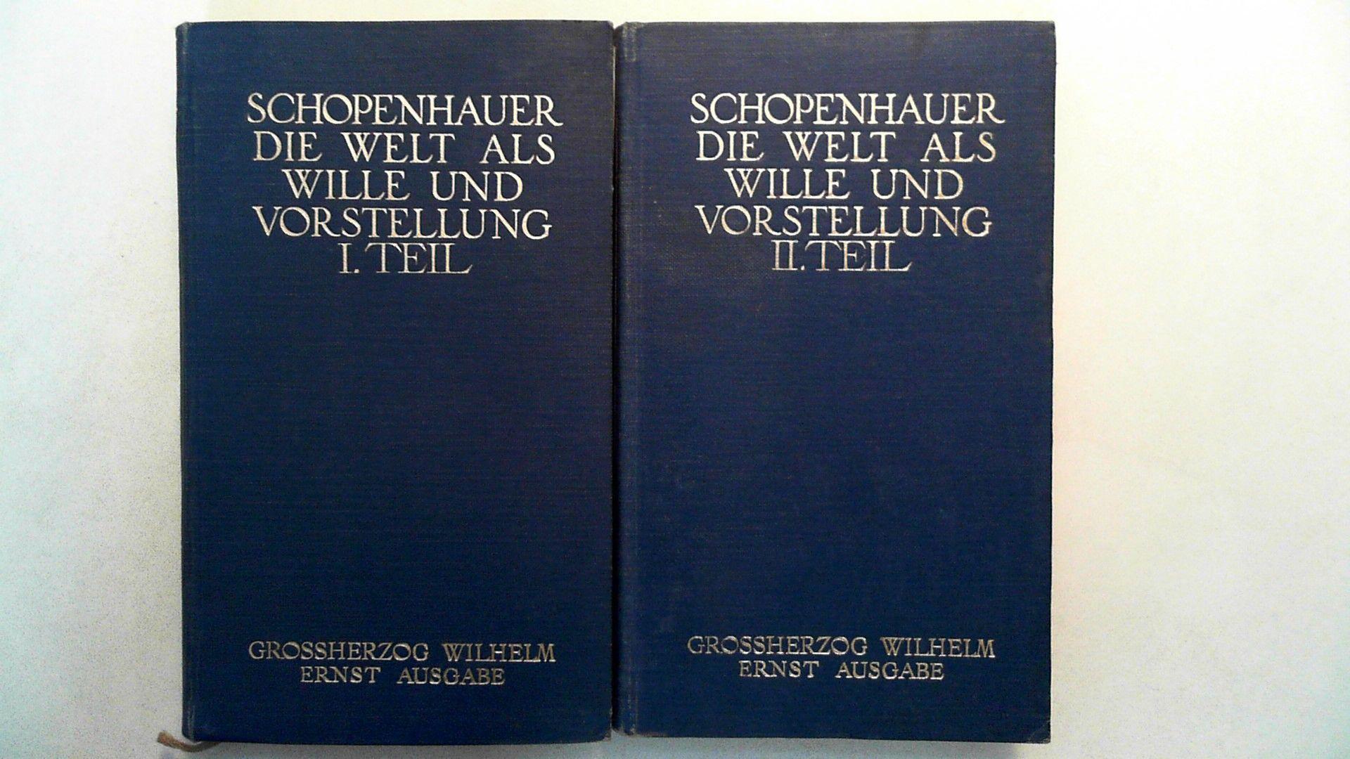 Schopenhauers sämtliche Werke in fünf Bänden -: Schopenhauer, Arthur: