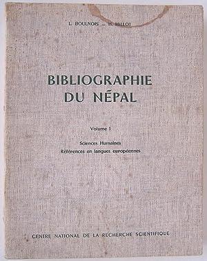 Bibliographie du Népal. Volume I. Sciences Humaines. Références en langues ...
