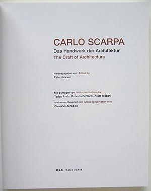 Carlo Scarpa: Das Handwerk der Architektur/The Craft of Architecture: Noever, Peter