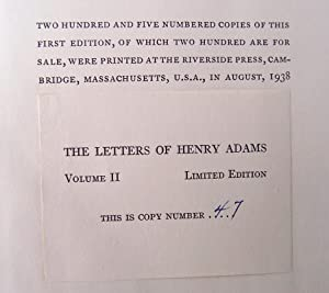 Letters Of Henry Adams 1892-1918: Ford, Worthington Chauncey