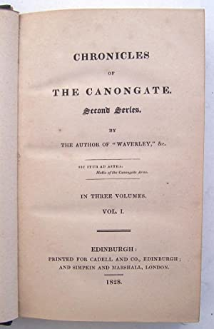 Chronicles of The Canongate. Second Series. (3 Volumes Complete): Scott, Sir Walter