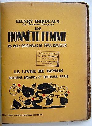 Une Honnête Femme, 25 Bois Originaux de Paul Baudier: Bordeaux, Henry