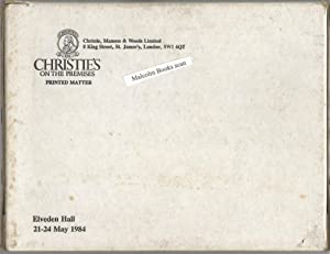 Christies / Christie's on the Premises. Elveden Hall, Thetford, Norfolk. Sale Catalogues. The Pro...