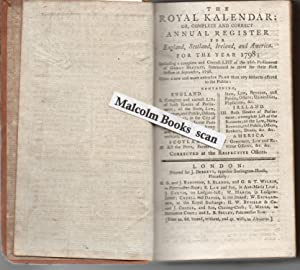 The Royal Kalendar: Or, Complete and Correct