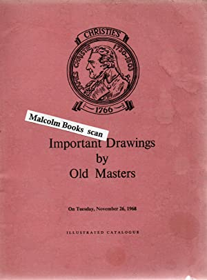 Catalogue of Important Drawings by Old Masters, the Property of Villiers David, Guy B. Homewood, ...