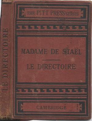 Le Directoire. Considerations sur la revolution Francaise,: Masson, Gustave Masson