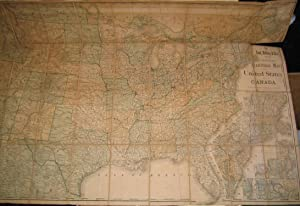 Rand McNally & Co's new official railroad map of the United States and Canada. (This Railway map ...