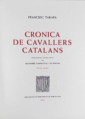 Cronica de cavallers catalans: Tarafa, Francesc