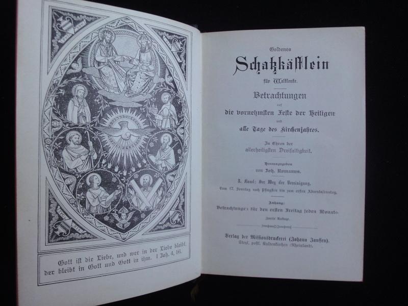 Goldenes Schatzkästchen Für Weltleute. 3.Band. Der Weg: Romanus Joh.