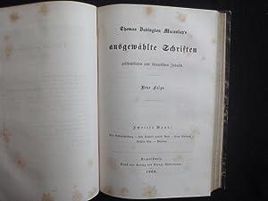 Thomas Babington Macaulay s Ausgewählte Schriften Geschichtlichen: Macaulay Thomas Babington