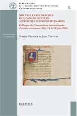 Nouvelles recherches en domaine occitan: Approches interdisciplinaires.: Various