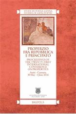 Properzio fra Repubblica e Principato. Proceedings of: Various