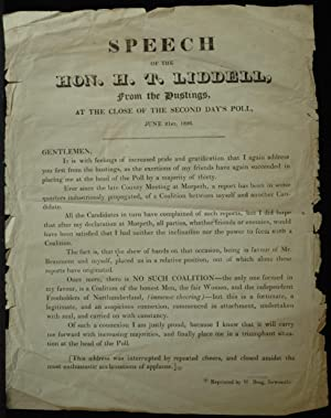 Speech Of The Hon. H. T. Liddell
