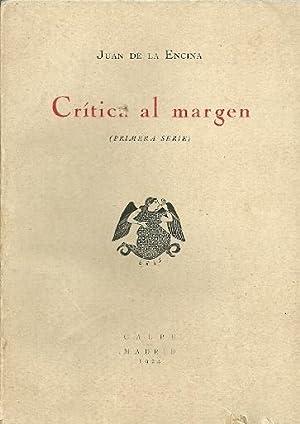 CRITICA AL MARGEN. Primera serie. (El epitafio: Juan de la