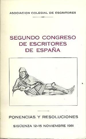 SEGUNDO CONGRESO DE ESCRITORES DE ESPAÑA. Ponencias: Lera, Abellán, Medio,