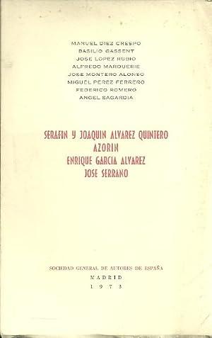 SERAFIN Y JOAQUÍN ÁLVAREZ QUINTERO, AZORÍN, ENRIQUE: AA.VV.: Díez Crespo,