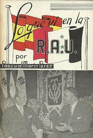 LO QUE VI EN LA R.A.U.: Marín Pérez, Pascual