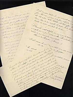 Manuscrit original de l'ouvrage de Marie Busquet-Pagnerre: BUSQUET-PAGNERRE (Marie)