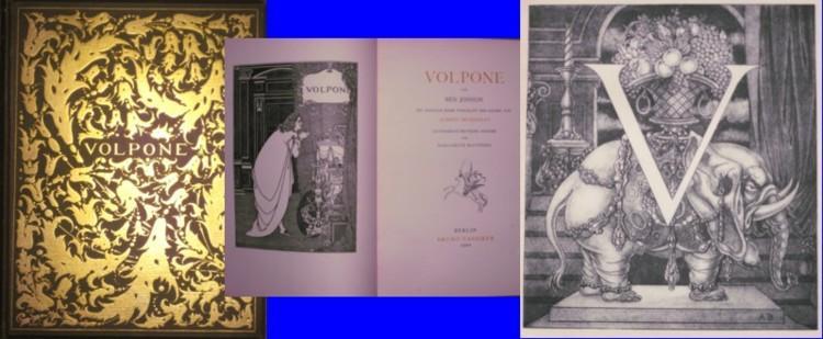 Volpone - von Ben Jonson. Mit Initialen,: Beardsley, Aubrey (Illustr.)