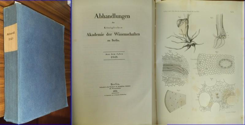 Abhandlungen der königlichen Akademie der Wissenschaften zu: Königliche Akademie der