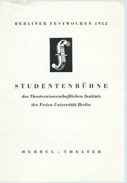 Programmheft zu: Der gestiefelte Kater. Kindermärchen in: Hebbel-Theater Berlin. -