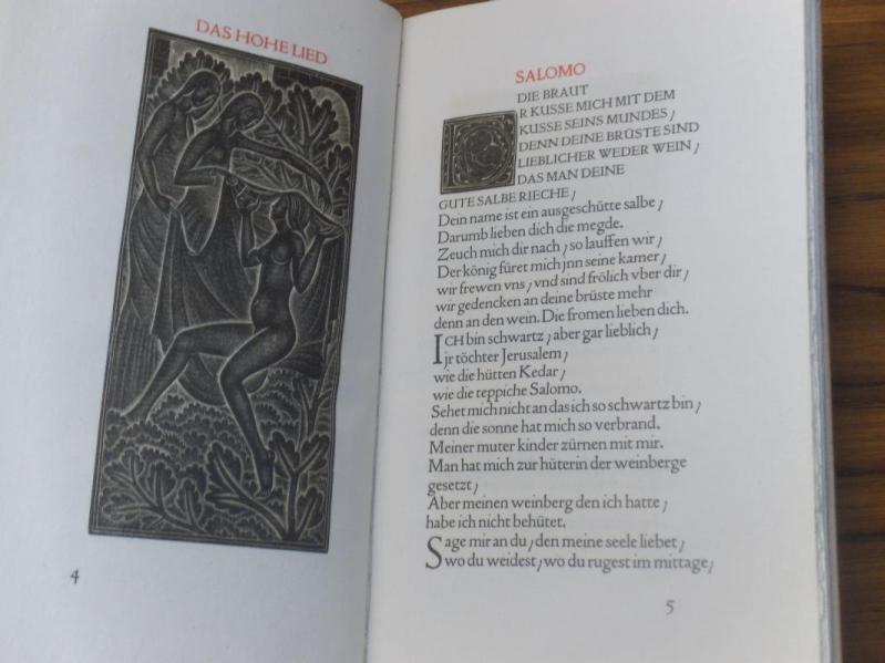 Das Hohe Lied Salomo. (Nach der ersten Ausgabe der Lutherischen Bibelübersetzung). Mit 11 (7 ...