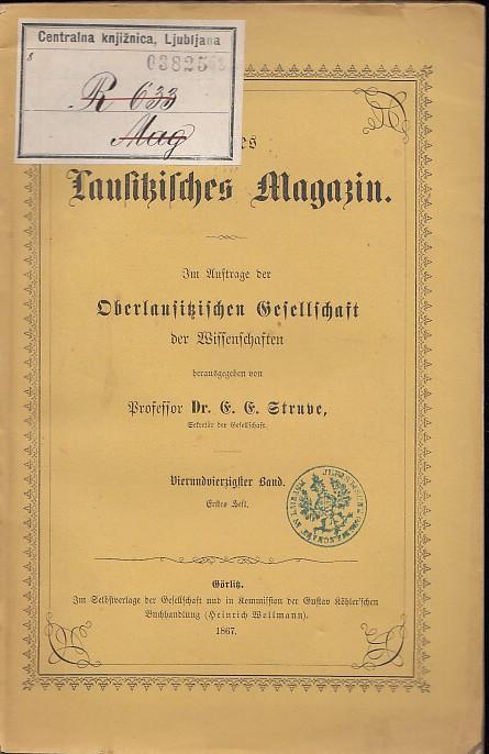 8ffa99e9649532 Neues Lausitzisches Magazin. Im Auftrage der Oberlausitzischen  Neues  Lausitzisches Magazin.-