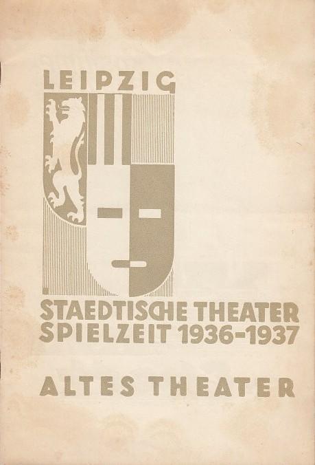 Briefmarken Mutig Ansichtskarte Leipzig Altes Theater 2 Fotos Gebrauchsspuren