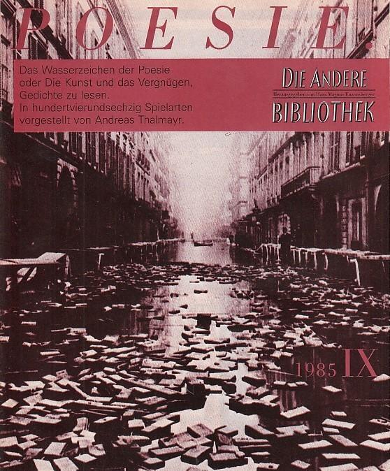 2ba0d1235f24a5 Magazin 9 - 1985  Magazin. - Enzensberger