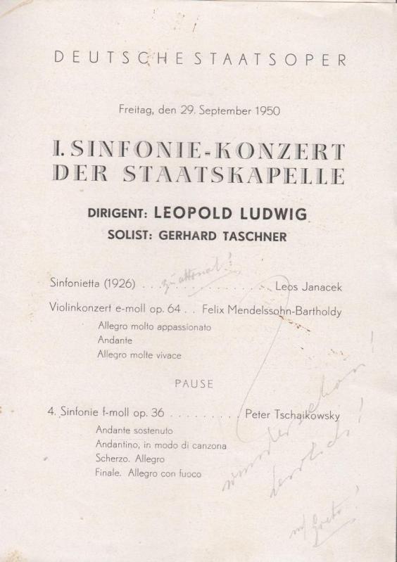 1. Sinfonie - Konzert der Staatskapelle. Dirigent: Berlin . Deutsche