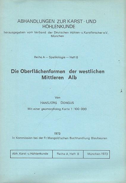 Die Oberflächenformen der westlichen Mittleren Alb (=: Verband der Deutschen