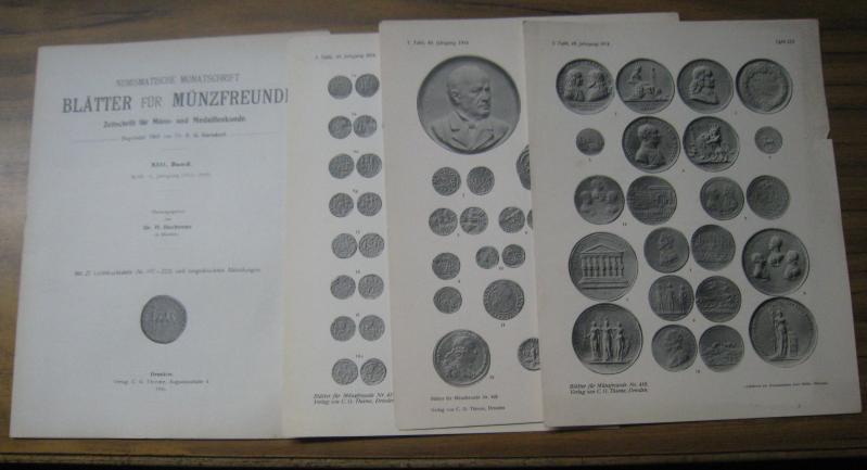 Blätter für Münzfreunde. Gesamtinhaltsverzeichnis (NUR das INHALTSVERZEICHNIS): Blätter für Münzfreunde.