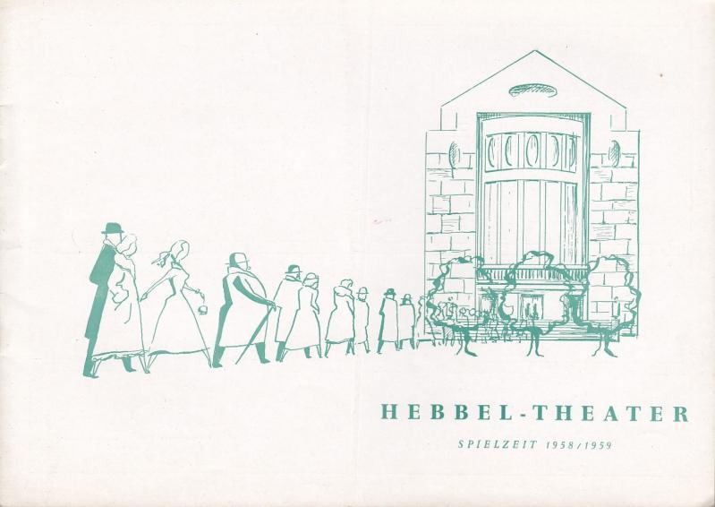 Zwei blinde Hühner. Programmheft der Spielzeit 1958: Hebbel Theater Berlin.