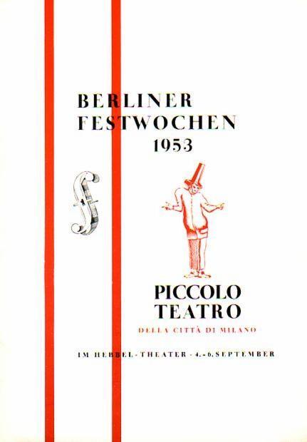 Programmhefte und Besetzungszettel Berliner Festwochen im Hebbeltheater.: Berlin Hebbel -