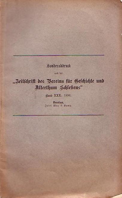 Zur Salzversorgung Schlesiens im ersten Viertel des: Wutke, Konrad: