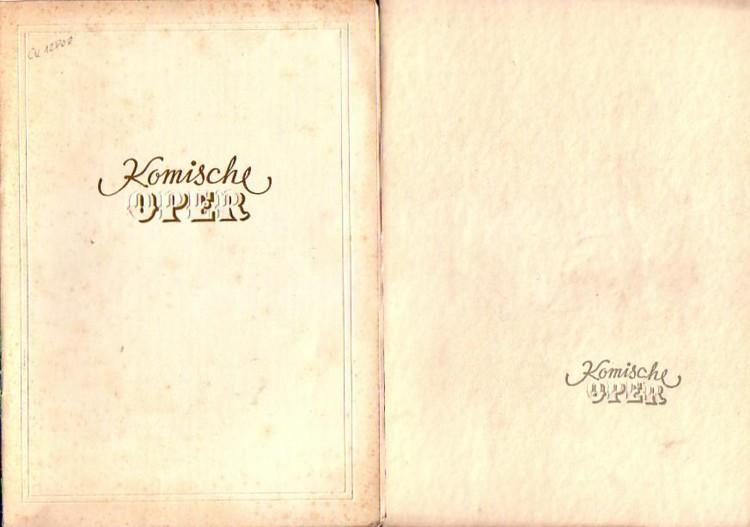 "Falstaff"" ; ""La Bohéme"" ; ""Der Freischütz"".: Verdi / Boito"