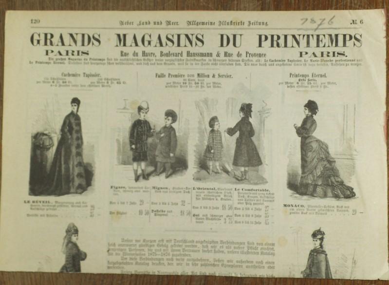 Mode / Kostüme: Konvolut von 12 Blättern: Bernard, Mad. /