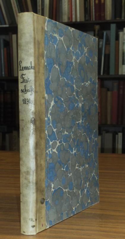 Beiträge zur Geschichte und Alterthumskunde Pommerns. Festschrift: Lemcke, Professor H.