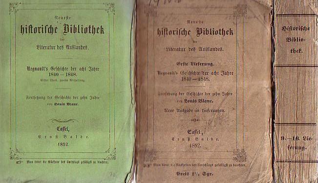 Geschichte der acht Jahre 1840 - 1848.: Regnault, Elias: