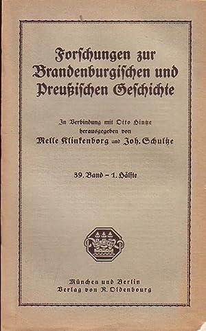 Forschungen zur Brandenburgischen und Preußischen Geschichte. .: Klinkenborg, Melle /