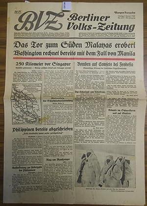 BVZ. Berliner Volks-Zeitung. Morgen-Ausgabe. Jahrgang 90, Nr.: Berliner Volkszeitung. -
