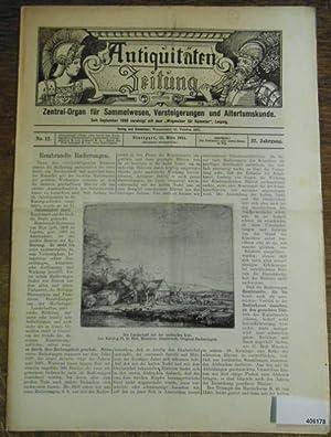 Antiquitäten-Zeitung Zentral-Organ für Sammelwesen, Versteigerungen und Altertumskunde.: Antiquitätenzeitung - Karl